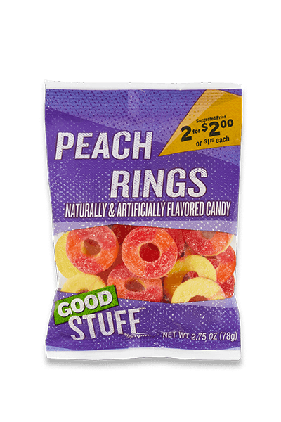 Image of a m p m peach rings candy