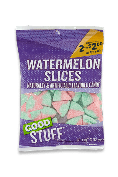 Image of a m p m watermelon slices candy.