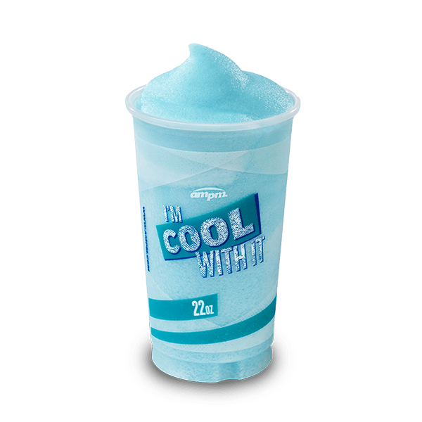 Image of a twenty-two-ounce Fanta Blue Raspberry freeze.